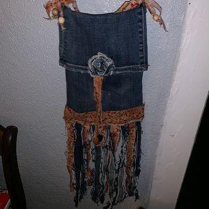 Handbags - Vintage handmade jean bag